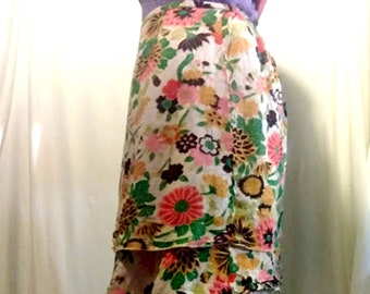 Vintage Rayon 5 Layer Skirt From India