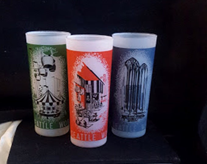 1962 Seattle World's Fair Tumblers Set of 3