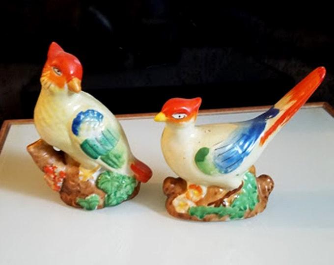 Vintage Porcelain Birds From Japan