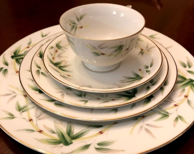 Vintage 7 Piece Dinner Setting for 1 South Wind by Yamaka China,