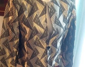 Vintage 90's Metallic Silver Party Suit by Jones of New York