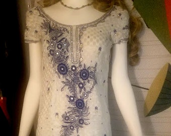 Embroidered Cotton Tunic Dress from India