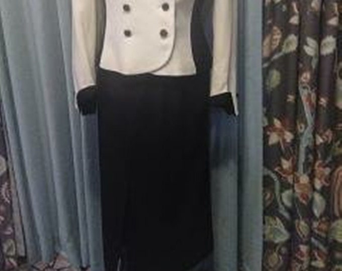 Vintage High-Waisted, Long Wool Pencil Skirt