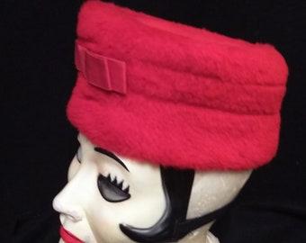 Vintage Woolly Red Hat