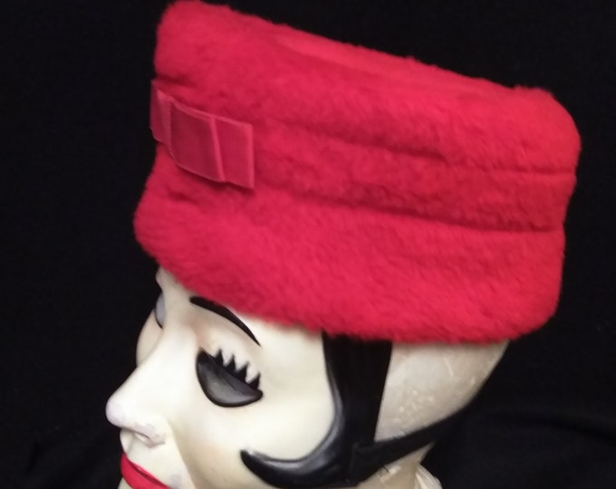 Vintage Woolly Red Hat