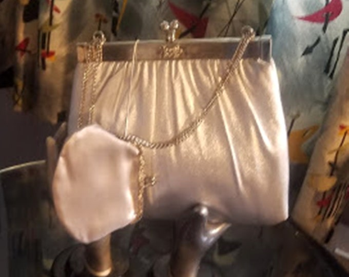Vintage 60's Silver Lame Purse by HL USA