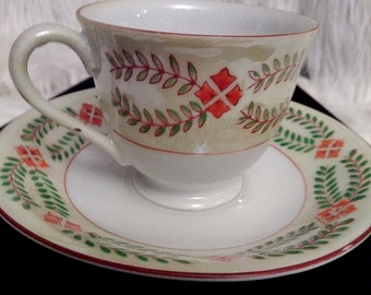 Maruku China Occupied Japan Petite Tea Cup & Saucer
