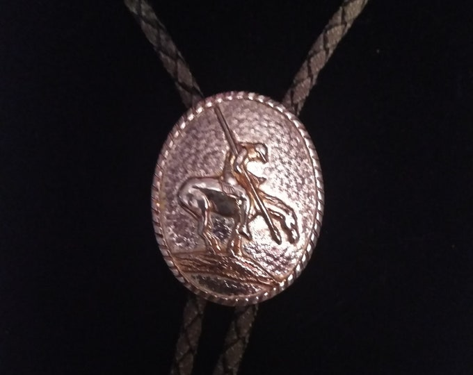 """Vintage """"End of the Trail"""" Bolo Tie"""