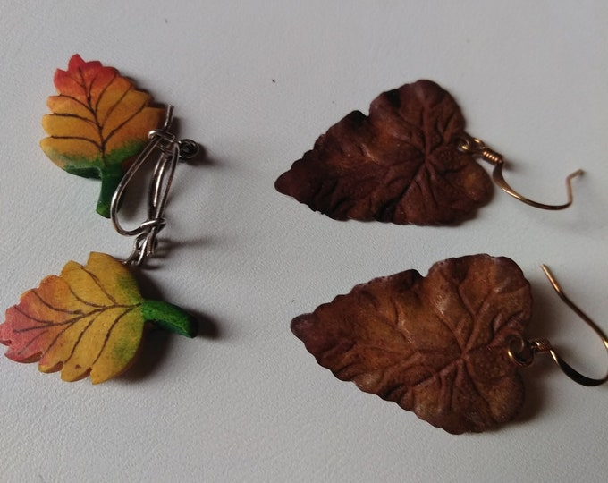 Vintage Leaf Earrings