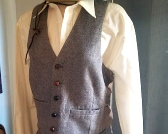 Snazzy Vintage 80's Wool Blend Vest