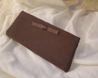 Vintage 1950's Fabric Clutch Purse