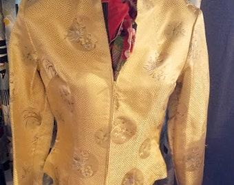 Vintage Jessica McClintock Millennium 2000 Rayon Silk Jacket