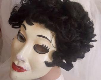 Vintage 40's Japanese Original Curly Black Wig