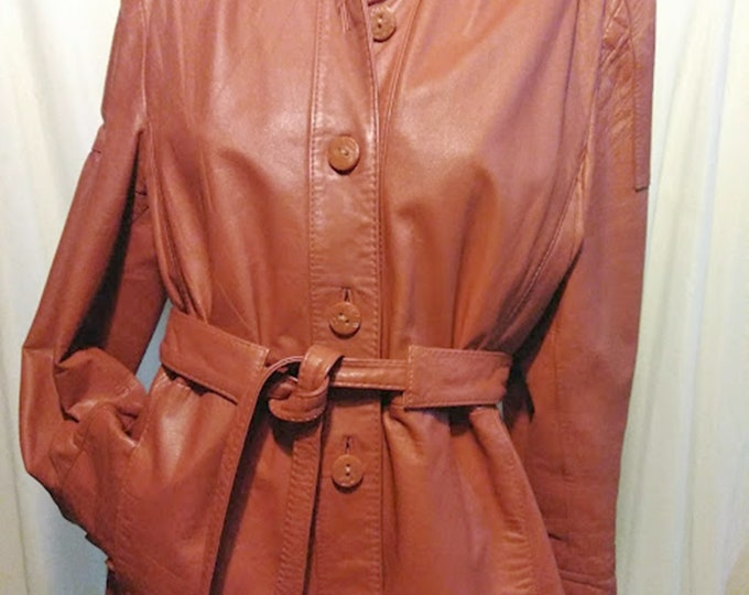 Vintage 70's Leather Coat in Perfect Condition