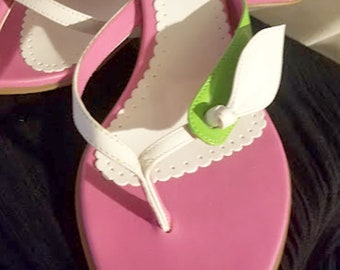 Summer Fun Patent Leather Thong Sandals