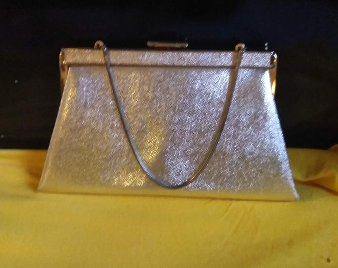 Vintage 1960's Gold Lame Cocktail Purse