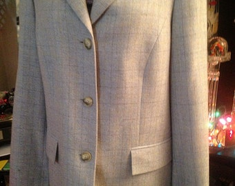 SALE! Tailored Wool, Silk & Cashmere Coat Made in Hong Kong