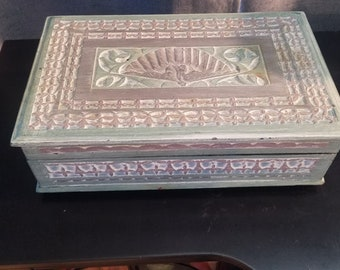 Vintage Indonesian Carved Wooden Box