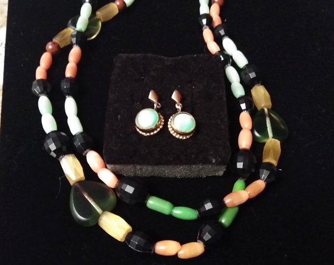 Unique Vintage Necklace & Earrings