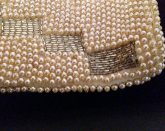 Vintage 40's Hand Beaded Art Deco Style Clutch - Japan