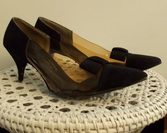 "Black ""Aldens"" Vintage Bow Pumps"