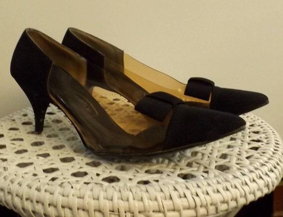 Black Aldens Vintage Bow Pumps
