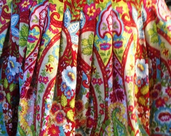 Bandolino Cotton Skirt in Exotic Floral Print