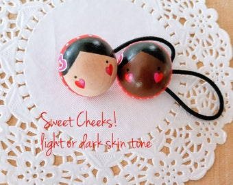 Sweet Cheeks, Wooden Pony Tail Holder