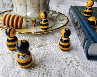 Baby Bumble Bee, peg dolls