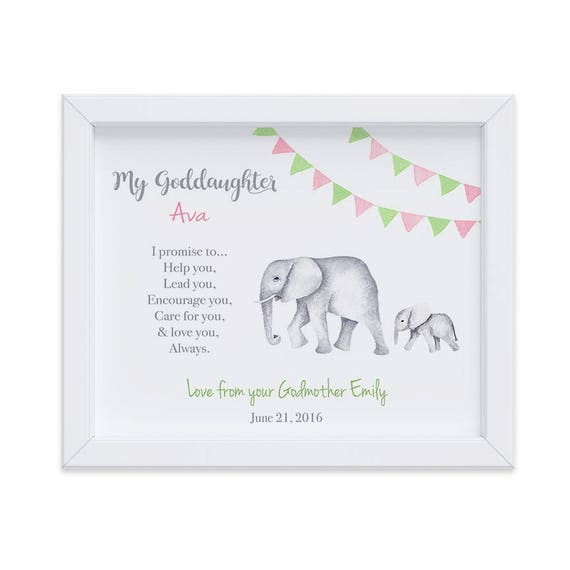 Goddaughter Nursery Art Print, Goddaughter Birthday Gift, Gift from Godparents