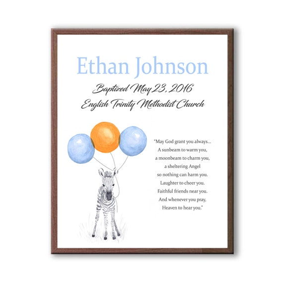 Baby Boy Christening, Dedication Day Art Gift, Baptism Gift For Boy, Baptism Gift For Godson