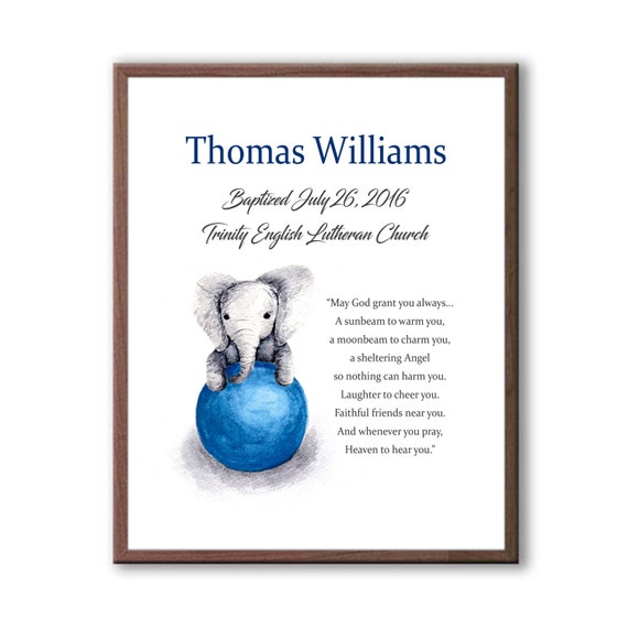 Christening Gift For A Baby Boy, Special Naming Day Commemoration Gift