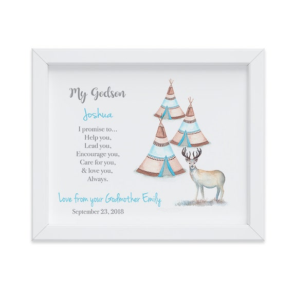 Personalized Gift for Godson from Godmother, Godson, Goddaughter Gift, Baptism Gift, Keepsake Gift