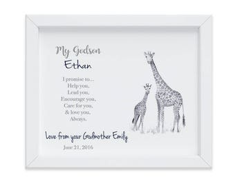 Personalized Christening Gift for Godson, Baptism Gift, Godson Baptism Gift, Gift from Godmother, Gift from Godparents