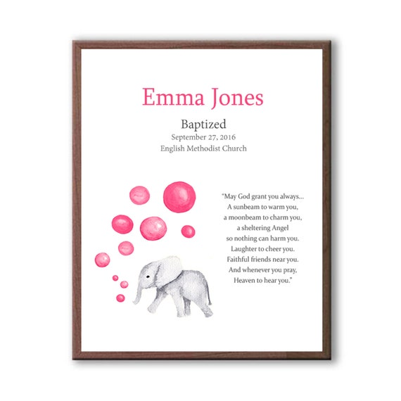 Girls Baptism Gift, Christening Gift For a Baby Girl, Personalized Baptism Gift For Her