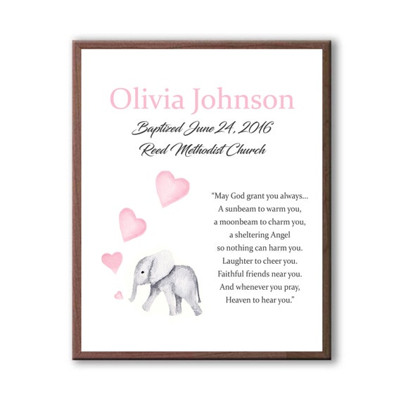 Baptism Gift, Girls Baptism Gift,  Godchild Gifts, Baptism Gifts For Grandparents, Personalized Baptism Art