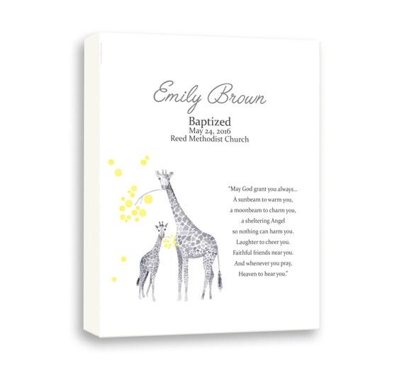 Baby Baptism Gift Girl, Art Gift For Goddaughter, Baby Girl Baptism Art, Christening Art For Kids