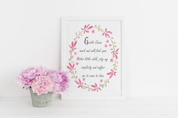 Christian poem for Children, Baby Shower Gift, Newborn Gift, Christening Gift, Religious gift