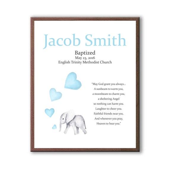 Christening Gift For Godson, Baby Baptism, Art From Godparents, Art For Baby Baptism