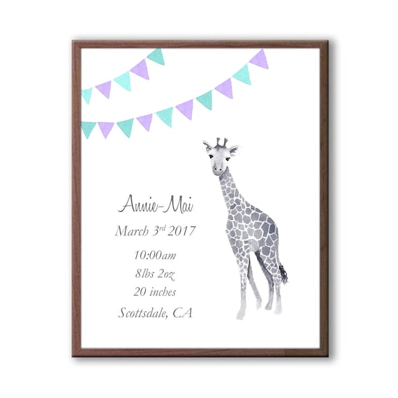Baby Birth Announcement Gift, New Baby Girl Gift For Baby Shower, G1001