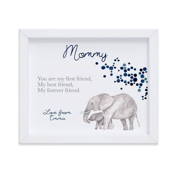 Personalized Gift for Mom, Best Friend Gift for Christmas, Mom print from Daughter or Son