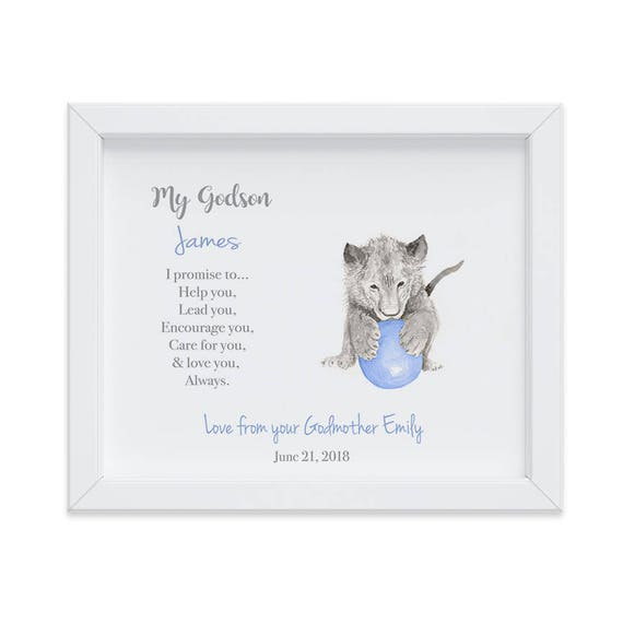 Personalized Gift for Godson, Christening Gift, Godson Gift, Gift from Godmother