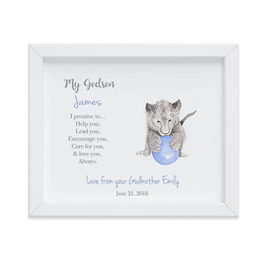 Personalized Gift for Godson, Christening Gift, Godson Gift, Gift ...