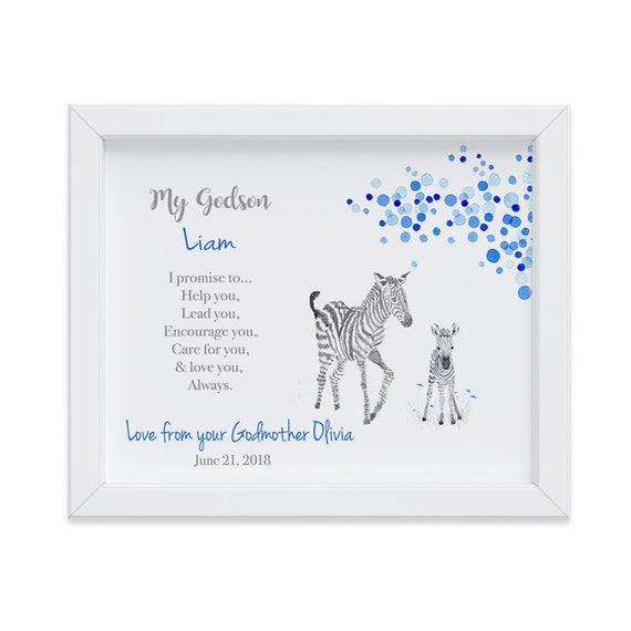 Personalized Christening Gift for Godson, Baptism Gift, Gift from Godmother, Gift from Godparents