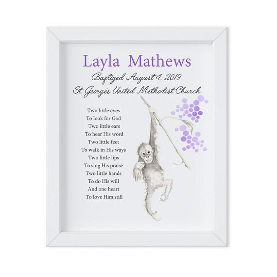 Baptism Gift, Keepsake Gift, Christening Print, Grandchild Gift, Dedication Gift