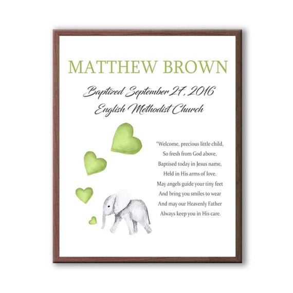 Personalized Baptism Gift For Boy Or Girl