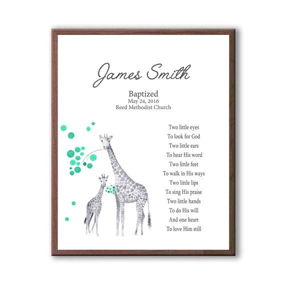 Baptism Gift For Boy, Gift For Godchild boy, Giraffe Baby Giraffe, Baptism Gift For Baby
