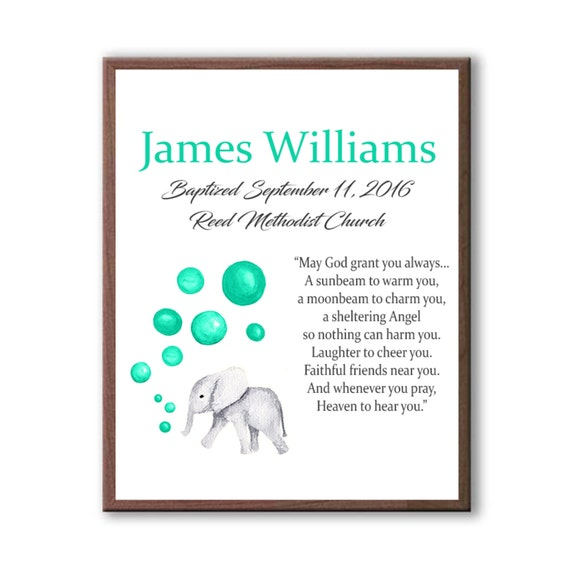 Baby Girl Baptism Day, Personalized Christening, Custom Baptism Art Gift From Godparents