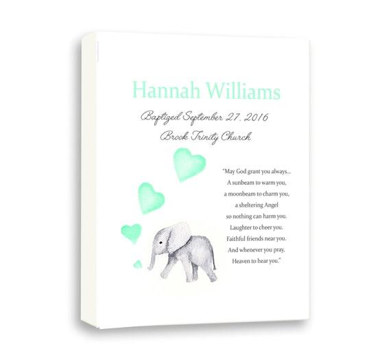 Art For Newborn Baby Naming Day, Dedication Day Gift, Dedication, Baby Elephant Art For Kids, Baby Girl