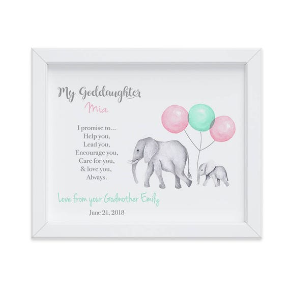Customized Goddaughter Gift, Baptism Gift From Godmother, Goddaughter Gift, Gift from Godparents, Christening Gift